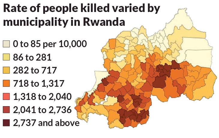 genocidi: mappa dello sterminio Tutsi