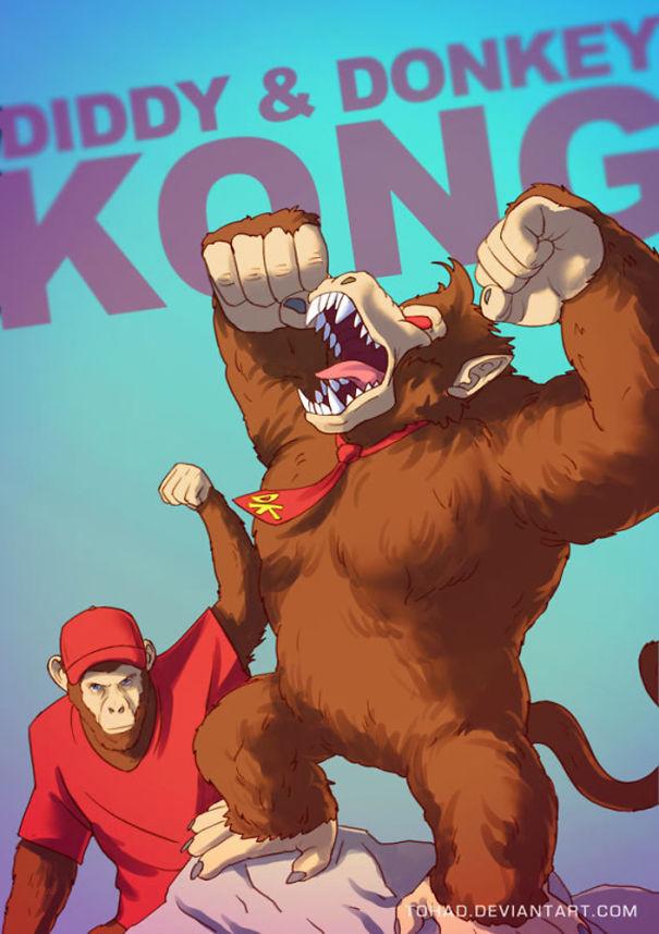 Caricature: Donkey Kong