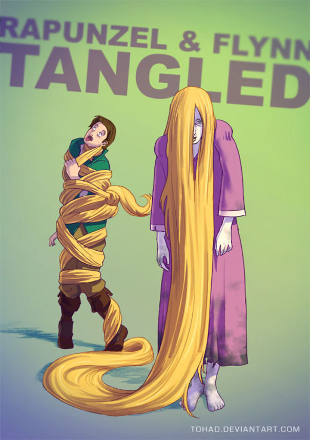 Caricature: Rapunzel