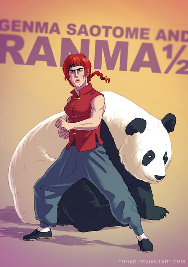 Caricature: Ranma 1/2