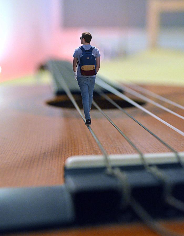 Foto spettacolari: Camminando su di un filo