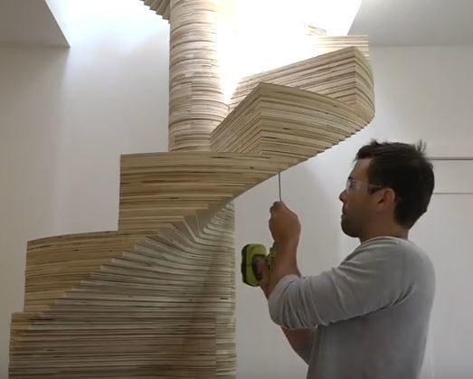 Scale in legno autoportanti elicoidali che magia il fai - Scale in legno fai da te ...