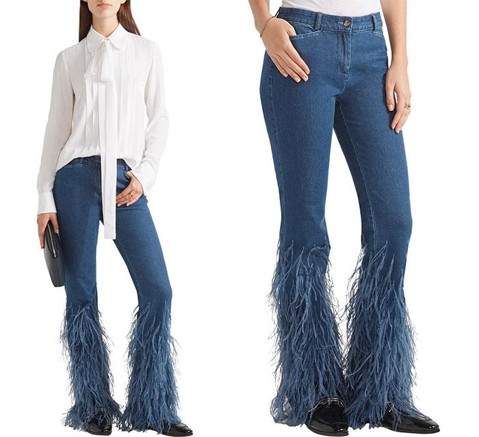 vestiti strani: i pantaloni piumati