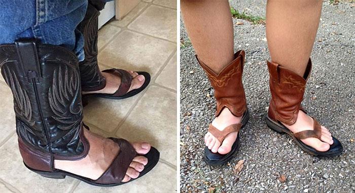 vestiti strani: i sandali del cowboy