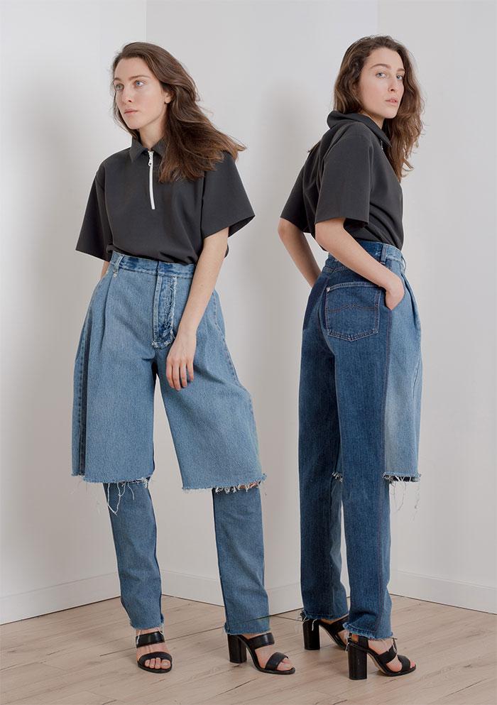 vestiti strani: jeans, pantaloncini e...qualcosa non va