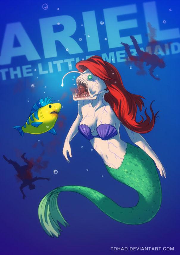 Caricature: La Sirenetta