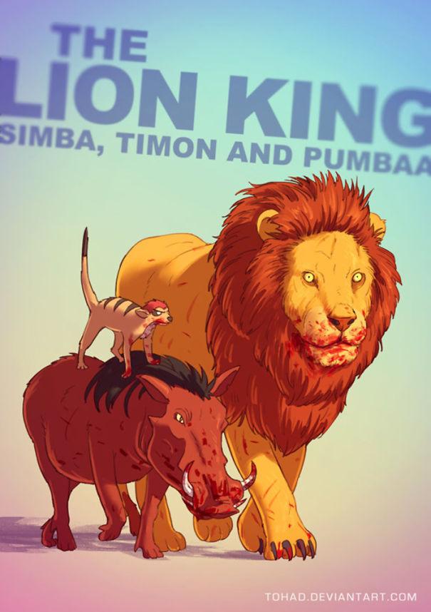 Caricature: Il Re Leone