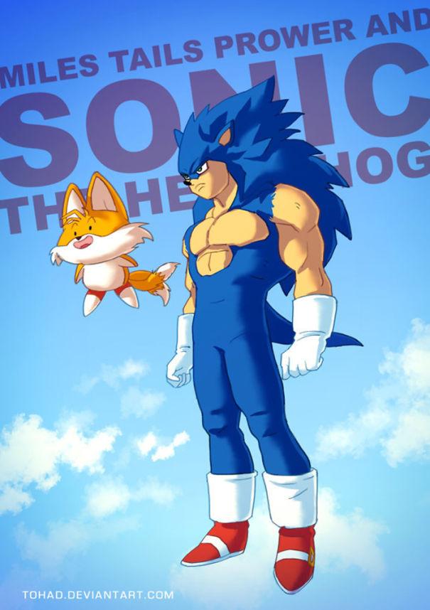 Caricature: Sonic