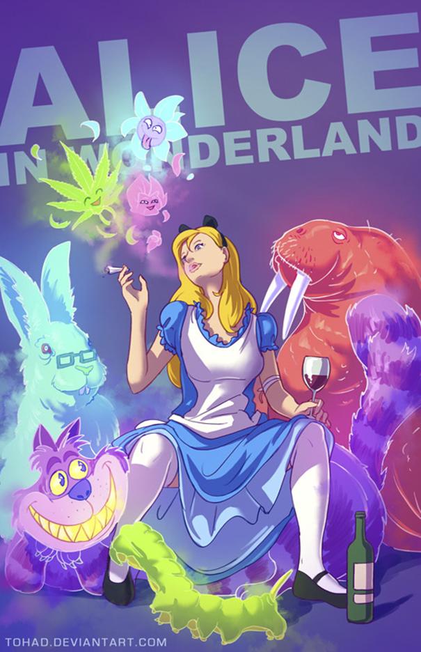Caricature: Alice nel Paese delle Meraviglie