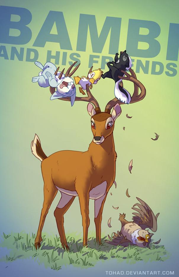 Caricature: Bambi