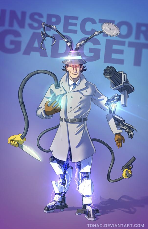 Caricature: Ispettore Gadget