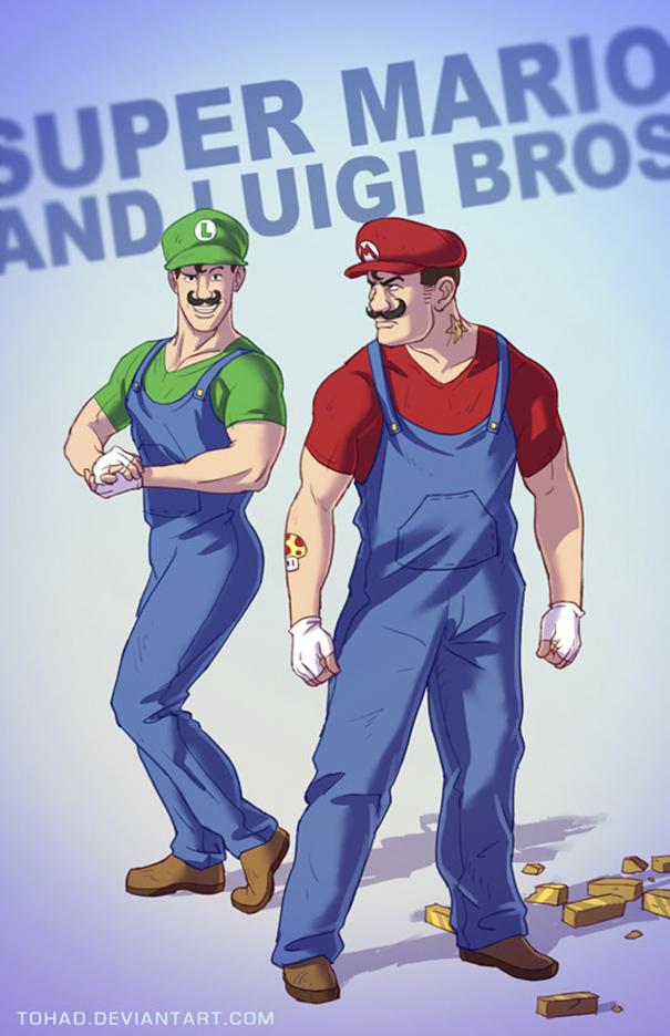Caricature: Super Mario