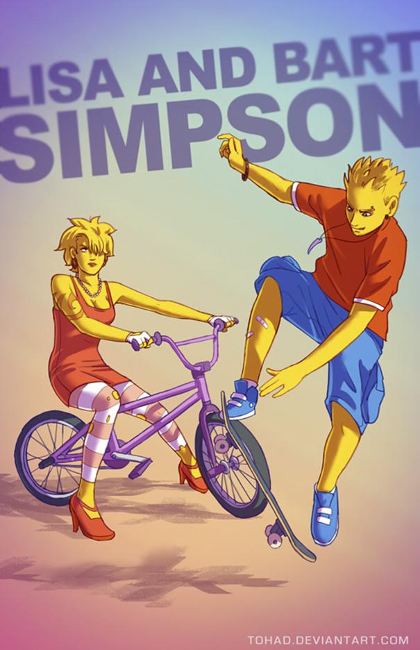 Caricature: I Simpson's