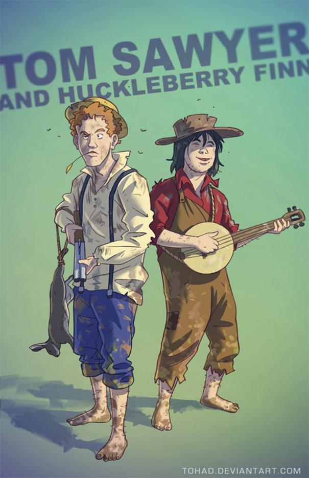 Caricature: Tom Sawyer