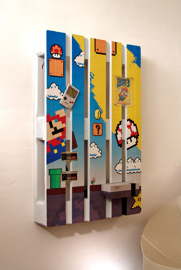 Pallets: l'intramontabile Super Mario con i pallets!