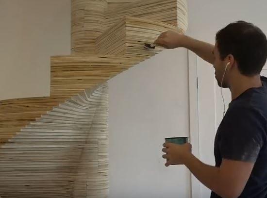 Scale in legno autoportanti elicoidali