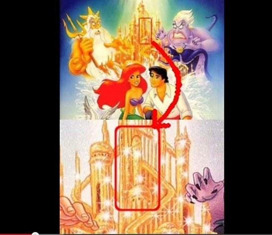 """messaggi subliminali nella Disney, """"La sirenetta"""""""
