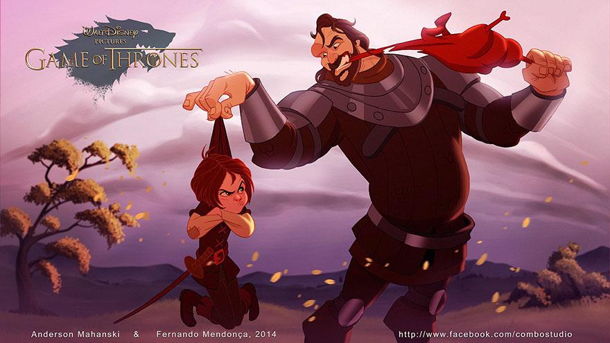 cronache del ghiaccio e del fuoco: Arya e il Mastino