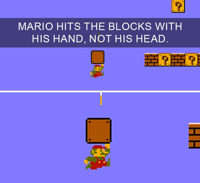 Curiosità dal mondo: Super Mario colpisce i blocchi con la mano, non con la testa
