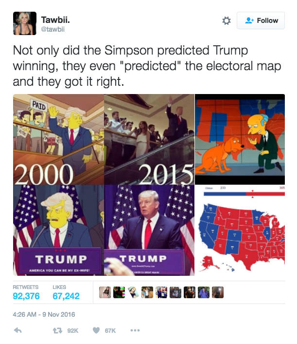 """I Simpson: su Trump """"being right sucks"""", aver ragione fa schifo"""