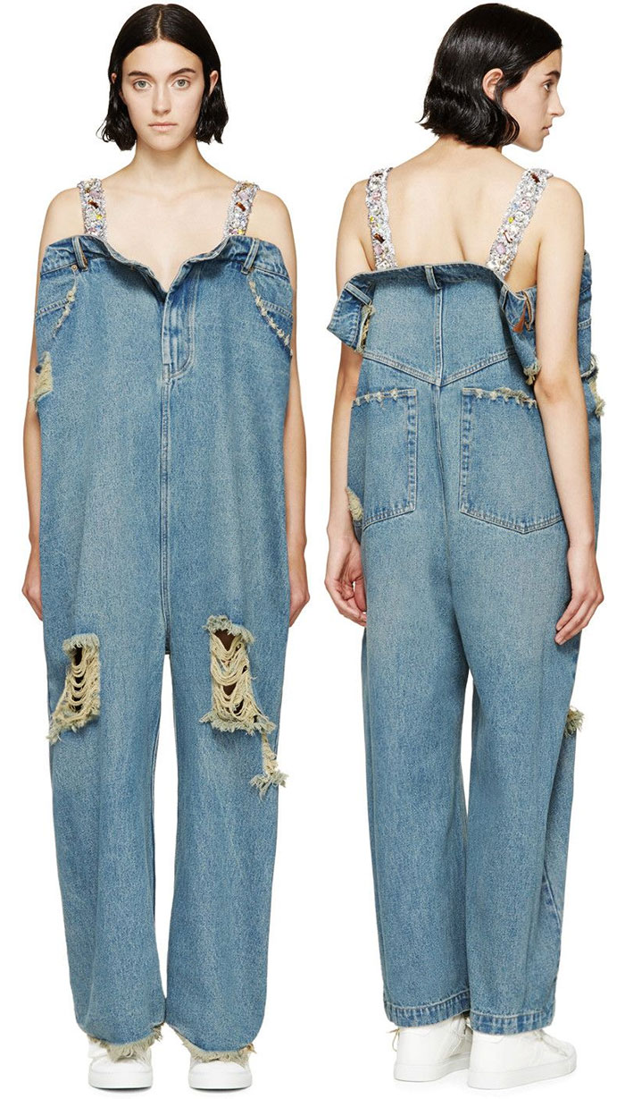 vestiti strani: i pantaloni del gigante