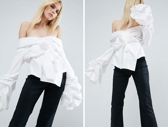 vestiti strani: camicia a fascia senza spalline