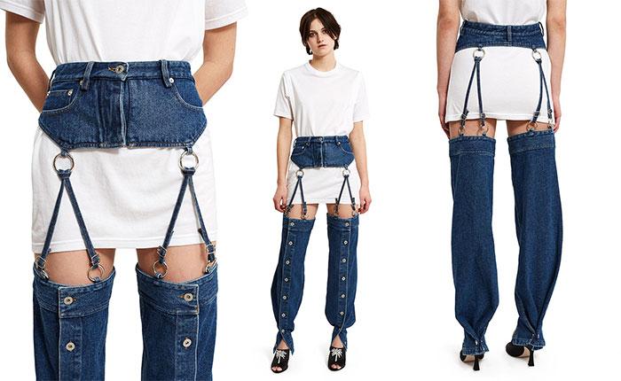 vestiti strani: il jeans quasi completamente staccabile