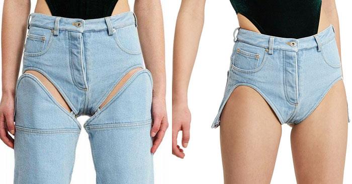 vestiti strani: jeans rimovibile