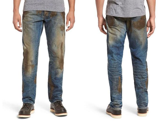 vestiti strani: jeans post fango