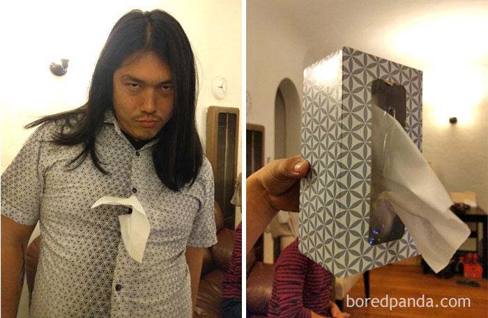 sobrietà: la scatola di fazzoletti che sfida la moda... o forse il contrario